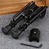 X-Aegis 2 in 1 Rifle Bipod 6' to 9' Spring Return Sniper Hunting Rifle Bipod Sling Swivel Mount, Adjustable Height, Rail Mount Adapter Included
