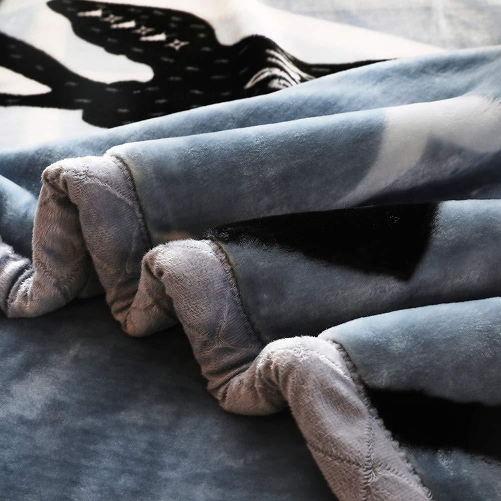 200CM YSNJG Haute Qualit/é Couverture Polaire en Flanelle Winter Flower Couverture Qualit/é Tissu Sain Une Touche est Chaude Couleur Vive Pas de D/éColoration,A,150