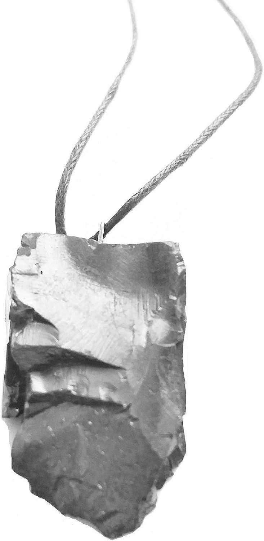 Karelian Heritage - Colgante de Shungite para protección EMF, piedra natural de chakra de raíz PE24