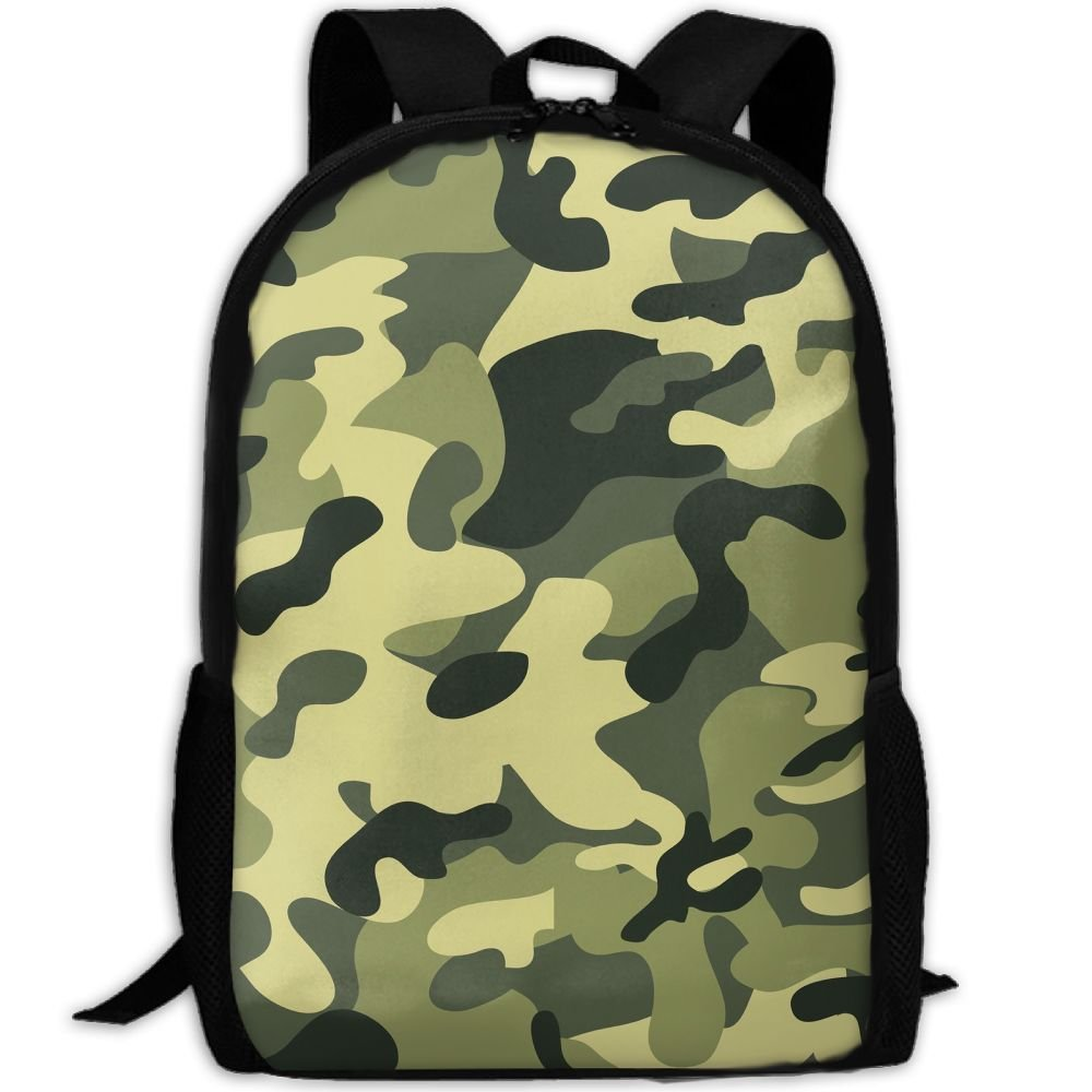 subensmグリーンカモのArmy Man & Womanバックパックデイパックフィットアウトドアバックパック旅行、ハイキング、キャンプ&カジュアル、大学、学校、ブックバッグ B07FYJNQ4P