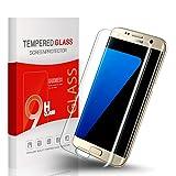 Utmury Samsung Galaxy S7 Edge Protection d'écran, 9H Dureté Verre Trempé Anti-Scratch Film Protection d'écran pour Galaxy S7 Edge Anti-rayures [HD Ultra Clair Film]