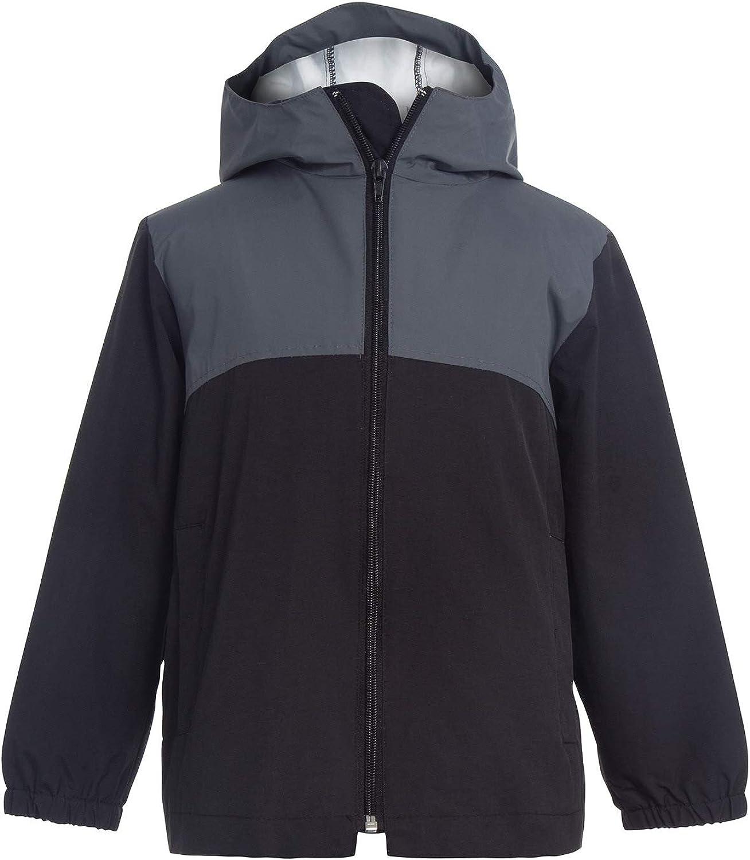 GAZIAR Boys Rain Jacket Kids Lightwight Waterproof Windbreaker Cotton Lined Packable Hooded