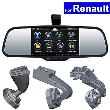 szss-car coche Espejo retrovisor DVR GPS Bluetooth WIFI para Renault Koleos Megane Fluence Latitude Scenic Talisman Android Auto Monitor: Amazon.es: Coche y ...