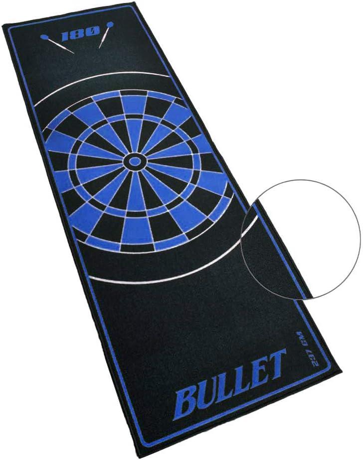 BULLET-Darts 4 teilige Dartmatte aus Eva zum Schutz f/ür den Fu/ßboden mit Oche 237cm