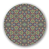 Uneekee Filigree Mosaic Lazy Susan: Small, Dark Wooden Turntable Kitchen Storage