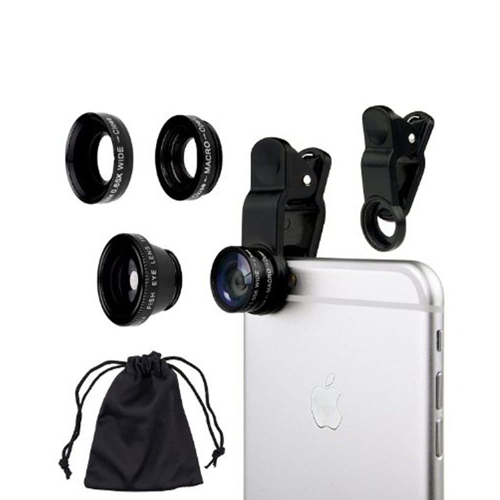 3 in 1 Universal Smartphone Clip On Camera Lens Photo Kit