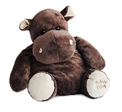 Amazon Com Histoire D Ours Large Stuffed Hippo Toys Games