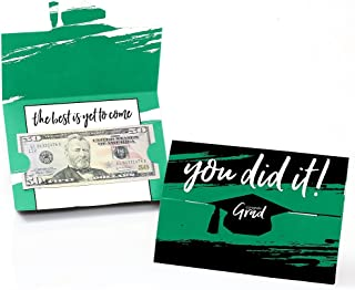 product image for Big Dot of Happiness Green Grad - Best is Yet to Come - Green Graduation Party Money and Gift Card Holders - Set of 8