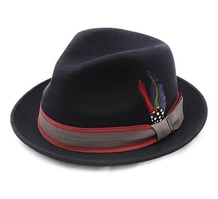 d7b6aa1c3 Stetson Player Woolfelt Wool Felt Trilby Hat Size L at Amazon Men's ...