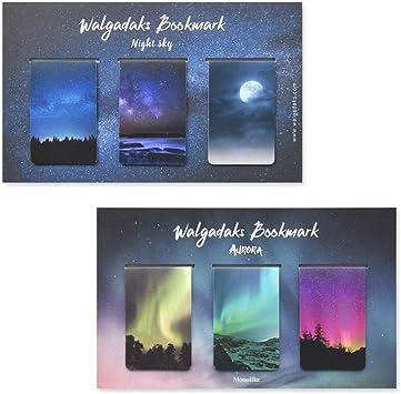 Set of 5 Monolike Magnetic Bookmarks Forest