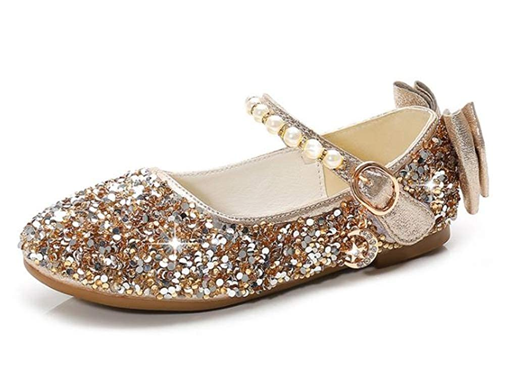 Kids Baby Toddler Girls Sequins Bling Princess Shoes Dancing Shoes Dress Party Shoes