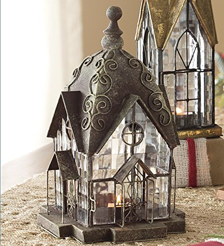 Handcrafted English Windale Lantern Tea Light Candle Holder - ChristmasTablescapeDecor.com
