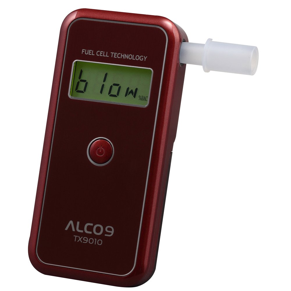 ALCO9 TX9010(aka AL9010) Fuel Cell Breathalyzer Portable Breath Alcohol Tester Detector with LCD Display by Sentech (Image #2)