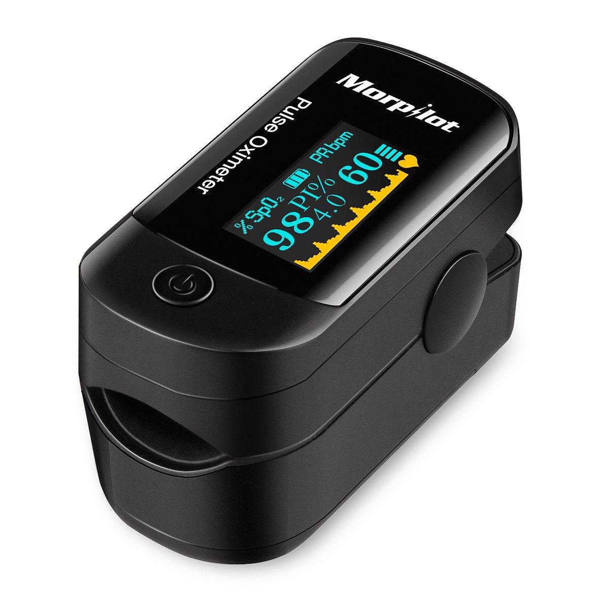 Oxímetro de pulso Oxímetro de dedo Morpilot OLED monitor digital de la