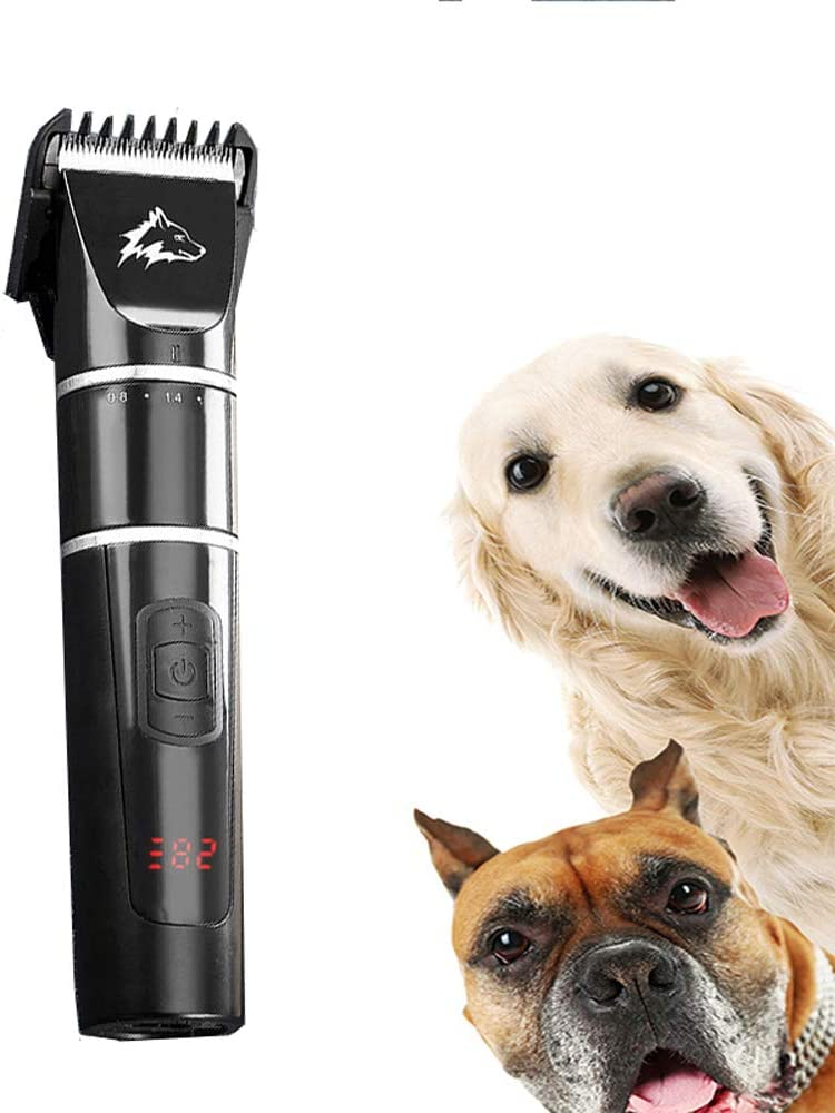 CLL Cortapelos para Perros, cortapelos silencioso para Mascotas, cortapelos para Perros de Peluche, Herramienta de peluquería eléctrica para Mascotas, Pantalla LCD, Tercera Marcha