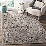 Cheap Safavieh Antiquities Collection AT58A Oriental Persian Floral Medallion Grey and Beige Premium Wool Area Rug (4′ x 6′)