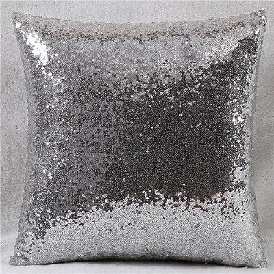 FairyTeller Solid Color Glitter Sequins Throw Pillow Case Home Decor Decorative Cushion Covers Capa De Almofada Car-Covers Quality First