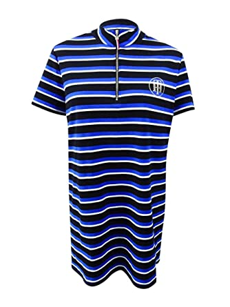 549bb861 Image Unavailable. Image not available for. Color: Tommy Hilfiger Women's  Plus Size Striped Pique Polo Dress ...