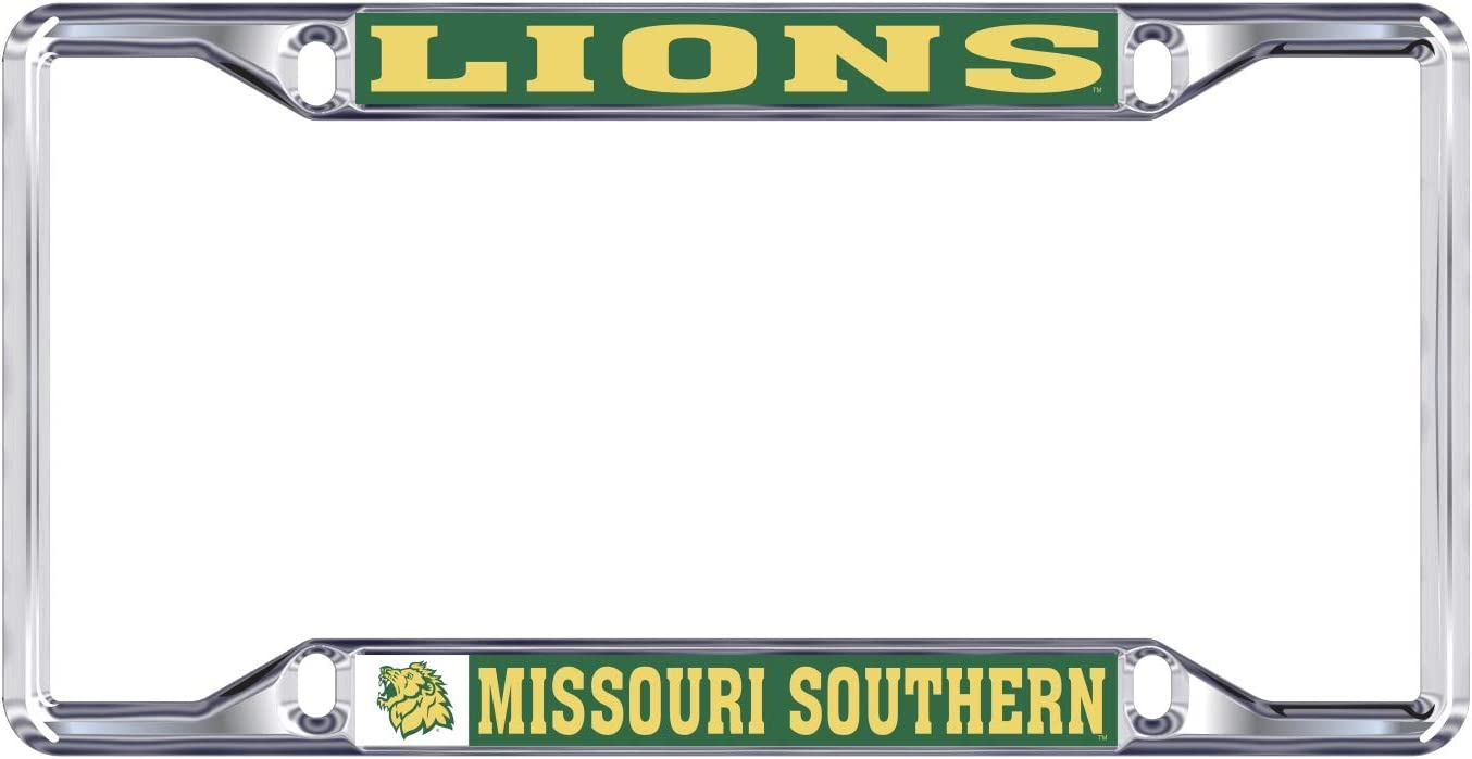 Mascot Desert Cactus Missouri Southern State University Lions NCAA Metal License Plate Frame for Front Back of Car Officially Licensed