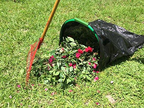 LEAF GULP Lawn and Leaf Bag Holder Turns a Plastic or Bio Lawn & Leaf Bag Into A Hands-Free Dustpan Making Yard Clean-Up A Snap! Made in The USA by LEAF GULP