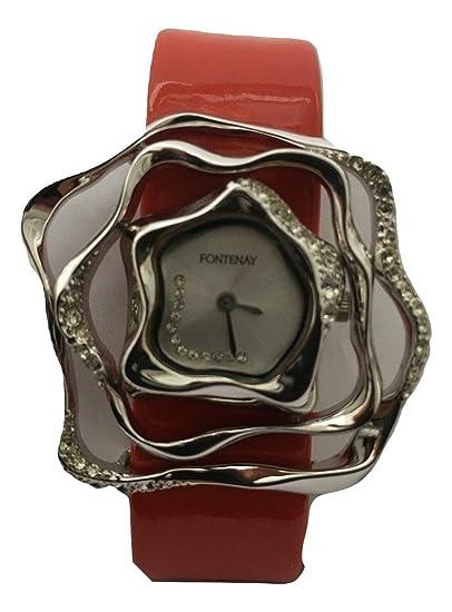 Fontenay coleccionistas de la mujer tema correa de piel Fashion reloj