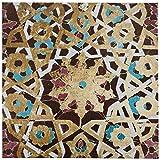 Metallic Bronze Mosaic Tile Print, 24'' x 24''