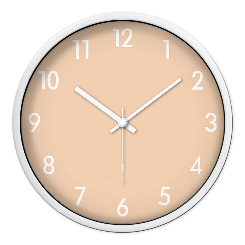 Unbekannt FANJIANI Stumm Wanduhr Kreatives Wohnzimmer Schlafzimmer Quarzuhr Persönlichkeit Cartoon Nette Uhr Kinderzimmer Stumm Quartz Uhr Uhr Hängenden Tisch (Farbe : Weiß, größe : 12 Zoll)