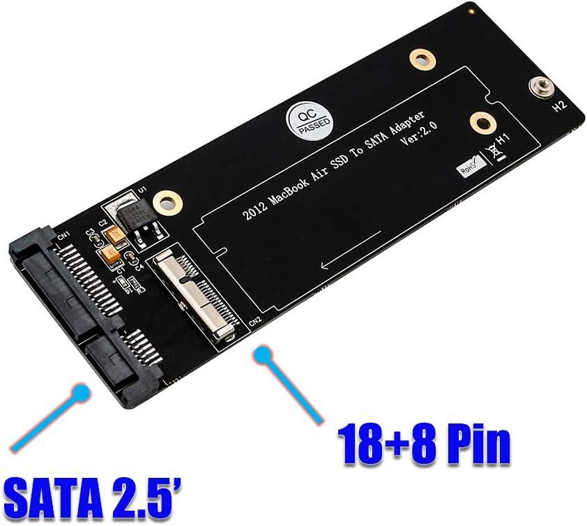 JMT - Disco Duro de 18 Pines + 8 Pines SSD a Tarjeta Adaptador ...