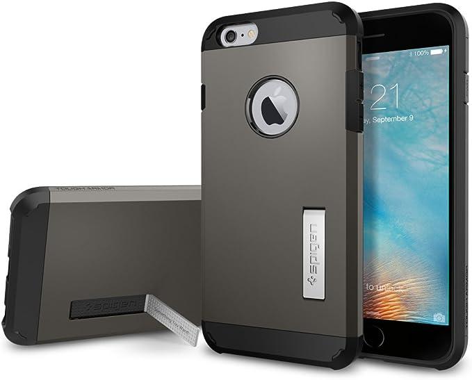 Spigen Coque rigide pour iPhone 6S Plus avec béquille et technologie de coussin d'air résistant pour iPhone 6S Plus/iPhone 6 Plus uniquement