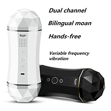 Xuro 1pcs Dual Channel Smart Aircraft Cup Japanese Av Porn Star Real Voice Masturbator For Male