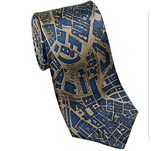 Josh Bach Mens CIVITAS Map of Boston - Silk Necktie