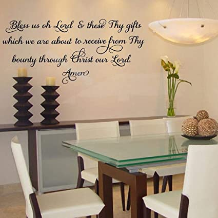 Bless us oh Lord and These Thy Gifts Amen Quote Kitchen Wall