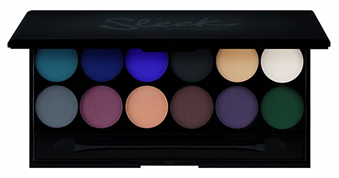 Maquillaje Sleek i-Divine paleta de sombra de ojos Ultramatte V2 con espejo 13.2 g, Paquete 1er (1 x 13 g)
