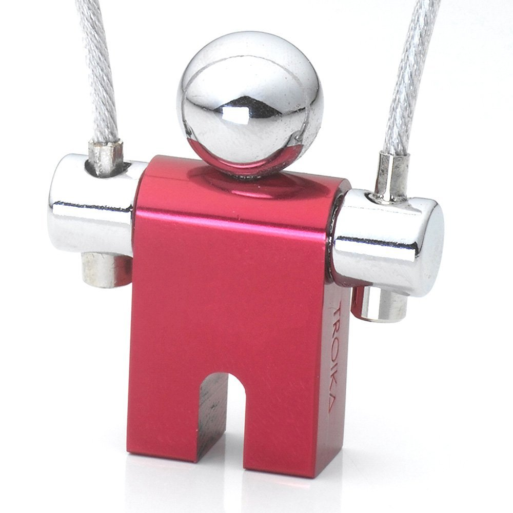TROIKA JUMPER – KYR71/CR – Keyring – aluminium– shiny – red – TROIKA-original