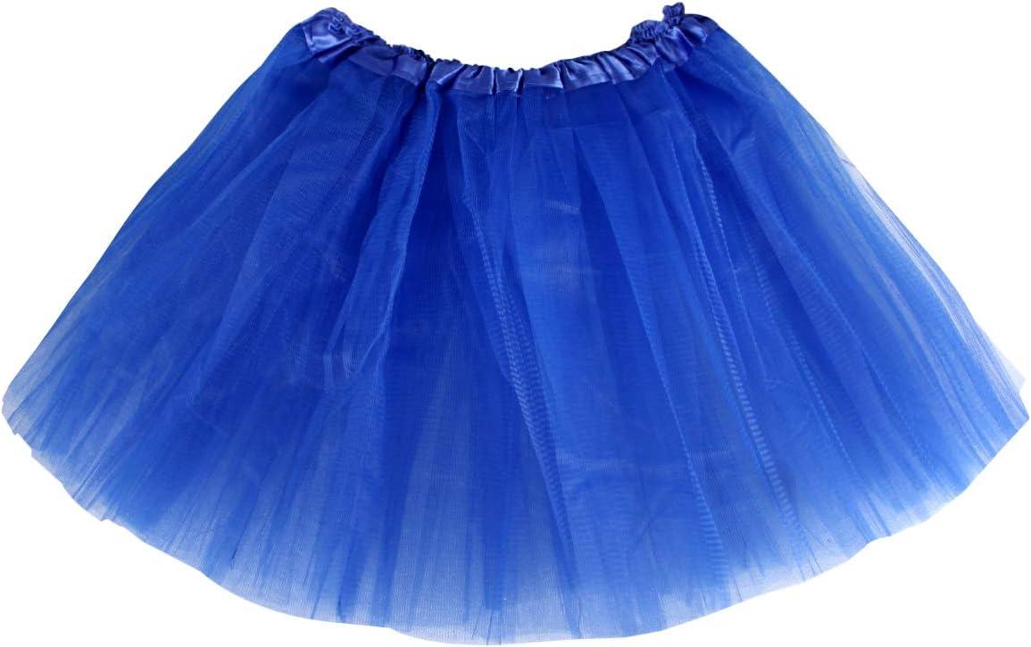 per Adulti Carnevale Costume Ballerina Donna Gonna in Tulle Blu Sottoveste Principessa Balletto Classico Tutu