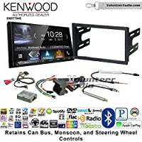 Volunteer Audio Kenwood DMX7704S Double Din Radio Install Kit with Apple CarPlay Android Auto Bluetooth Fits 2002 Volkswagen Golf, 2002 Jetta, 2002 Passat with Amplified Systems