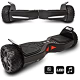 CHO[TM All Terrain Rugged 6.5 Inch Wheels Hoverboard Off-Road Smart Self Balancing Electric Scooter With built-In Speaker LED Lights UL2272 Certified