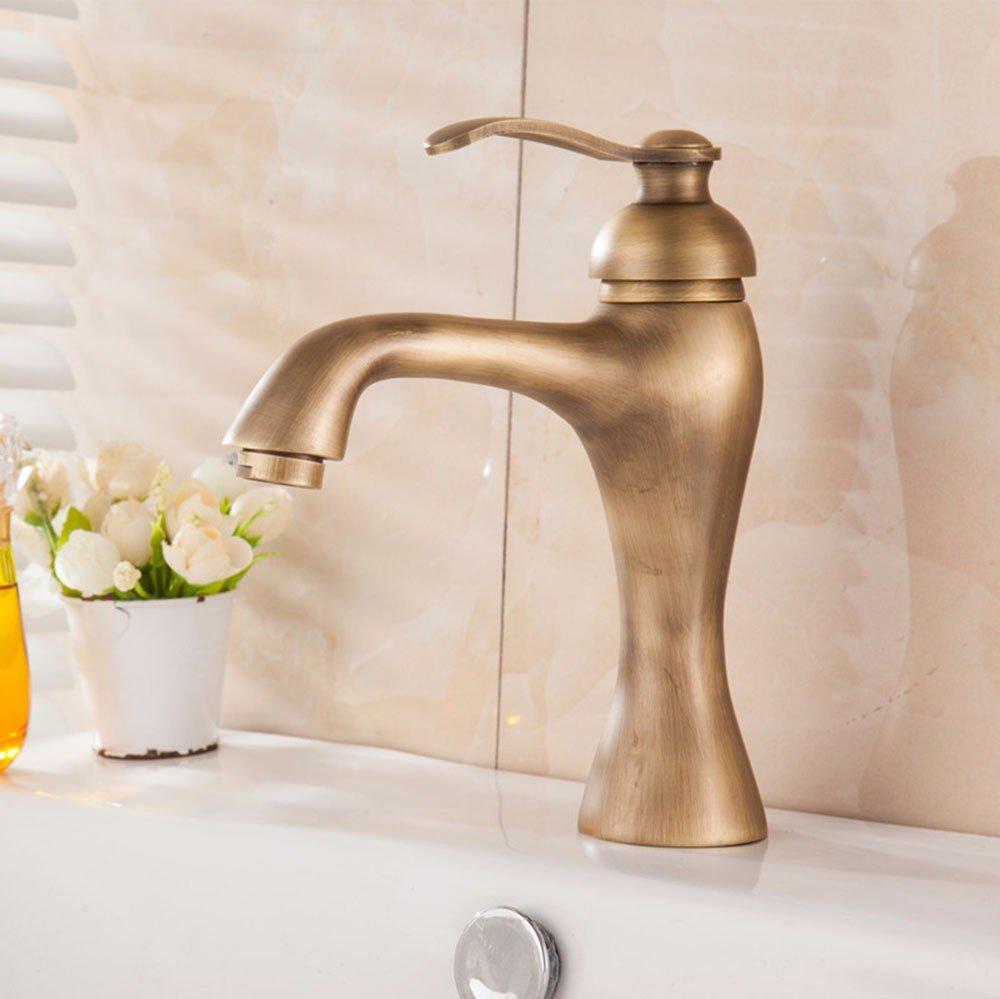 Hlluya Wasserhahn für Waschbecken Küche Kupfer heiß und kalt Das Das Das Becken Einloch Spülbecken Wasserhahn 10 6e7c0b