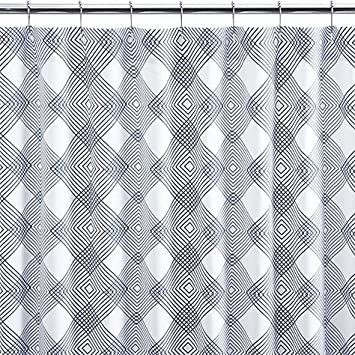 Crate And Barrel Spiro Shower Curtain 100 Percent Cotton Printed Shower  Curtains 72 Inch