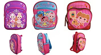 d457fdcd8420 Image Unavailable. Image not available for. Color  Lalaloopsy Mini Toddler  Backpack set of 3 backpacks