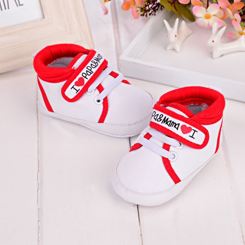Newborn Baby Infant Kid Boy Girls Anti-Slip First Walkers Shoes Soft Sole Canvas High-Top Ankle Sneakers Toddler Shoes