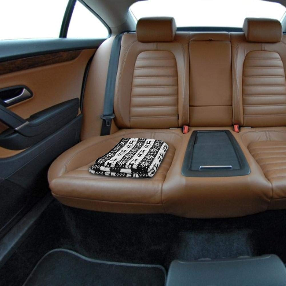 Yunhigh 12 V Auto Elektrische Heizdecke Reise Schnelle Heizung Warme Weiche Komfortable mit Zigarettenanz/ünder und Hohe//Niedrige Temperatureinstellung f/ür Auto LKW Boote RV Auto 145 /× 100 cm