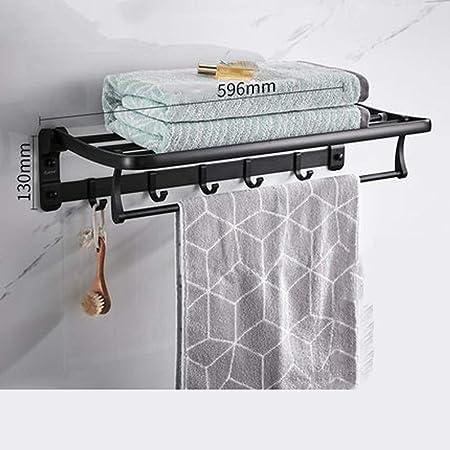 QKUANG Toallero, Perchero, baño, Espacio de baño, Aluminio ...