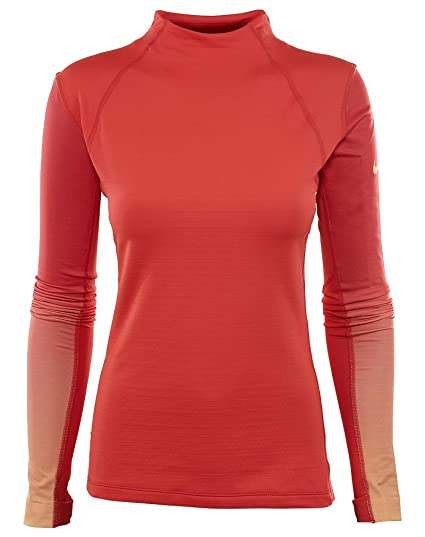 6281d027 Image Unavailable. Image not available for. Color: Nike Wom Pro Hyperwarm  Top MD Ember Glow