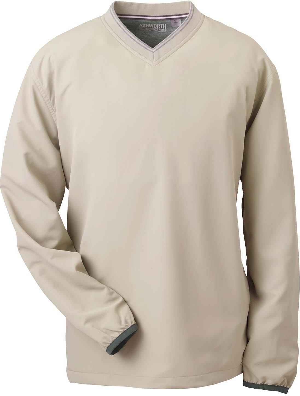 3ff1ceb94a476 new Ashworth Men's V-Neck Wind Jacket Windshirt 5267 - sms.md