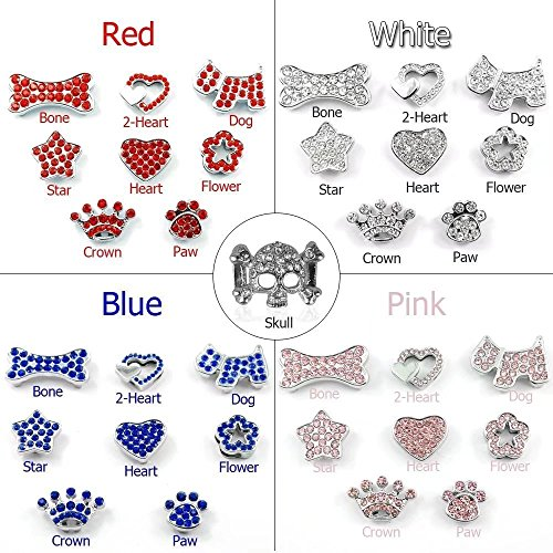 Image of Didog Personalized Rhinestone Pet collars with Customizable Name Letters,Fit Small and Medium Dogs(Pink, XS)