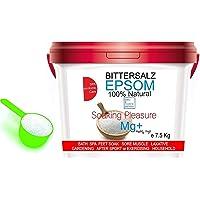 Sales Epsom Relajantes - Magnesio Natural Sal Pies Exfoliante pies ● Sales de baño, (7.5 kg)