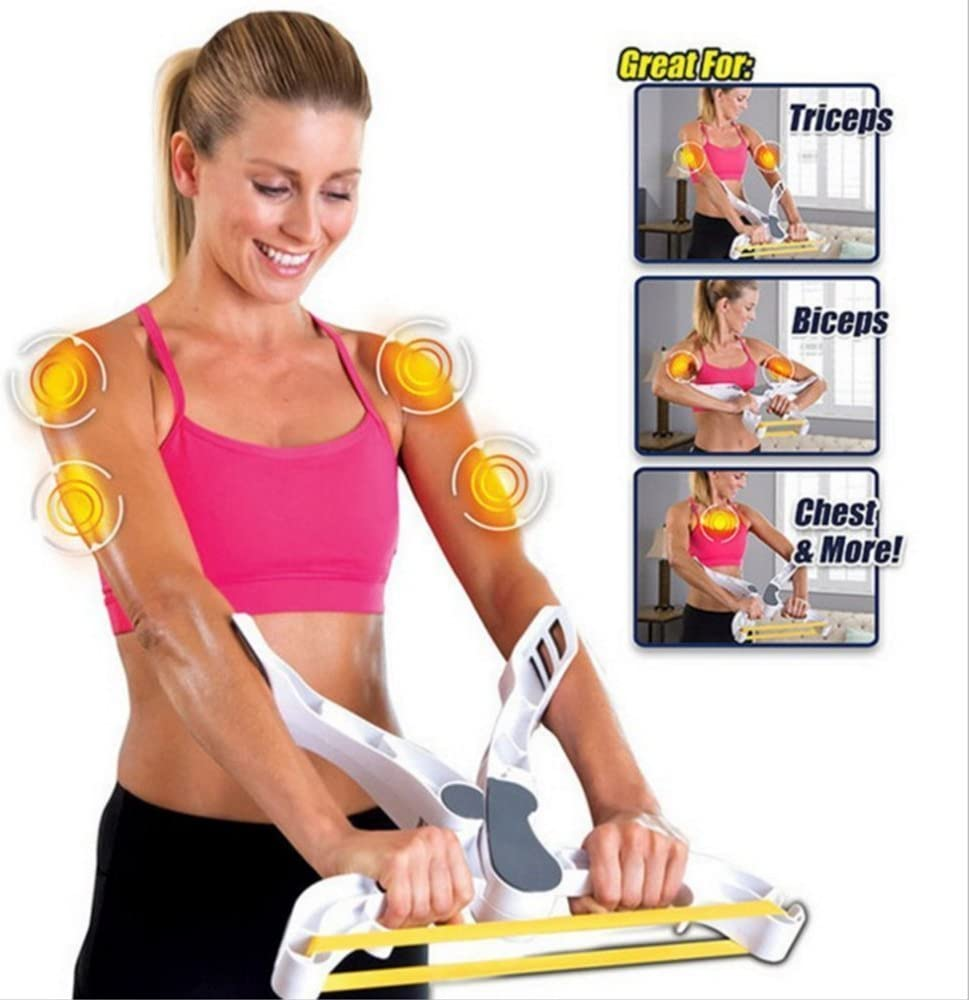 Letton Arm Workout Machine Upper Body Resistance Exercise With 3 System Resistance Training Bands For Women Tones Strengthens Arms Biceps Shoulders Chest Amazon Co Uk Sports Outdoors