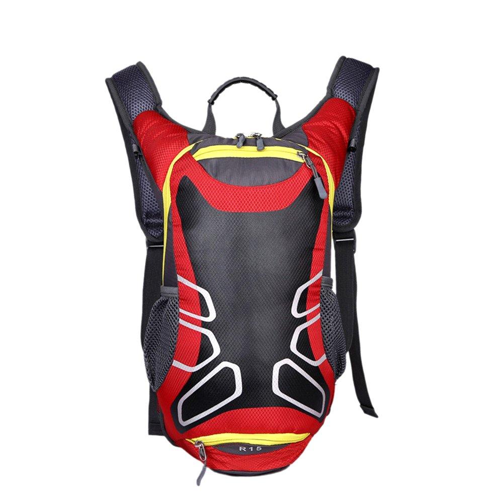 Egmy ®レディースメンズバックパックアウトドアライディング自転車バッグパッケージ水膀胱バッグ B01JZI64HA レッド