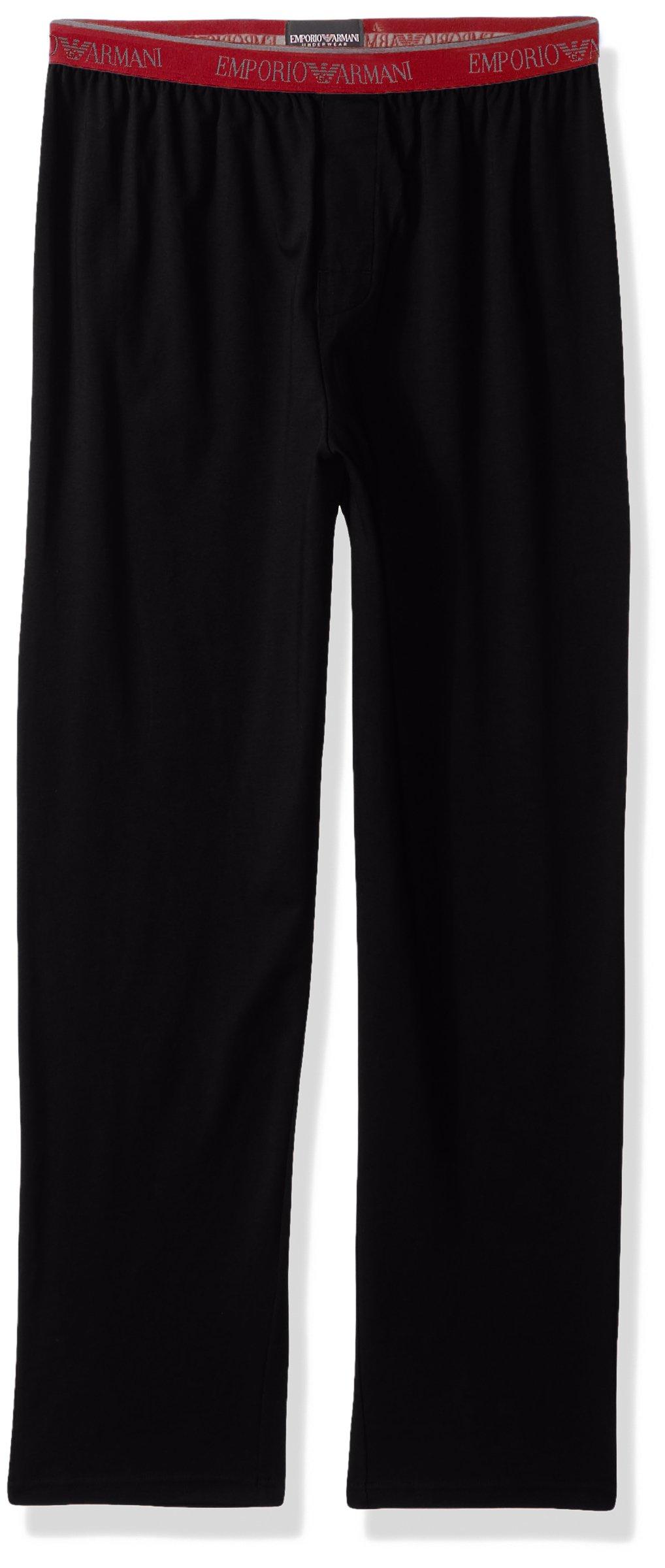 Emporio Armani Men's Stretch Cotton Multipack Trousers, Black, S
